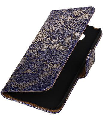 Blauw Lace booktype cover voor Hoesje voor LG G5