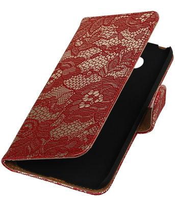 Rood Lace booktype cover voor Hoesje voor LG G5
