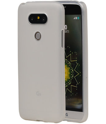 Hoesje voor LG G5 TPU Transparant Wit