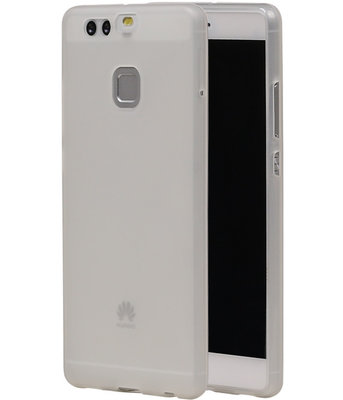 Hoesje voor Huawei P9 TPU Transparant Wit
