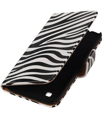 Zebra booktype cover hoesje voor LG K7