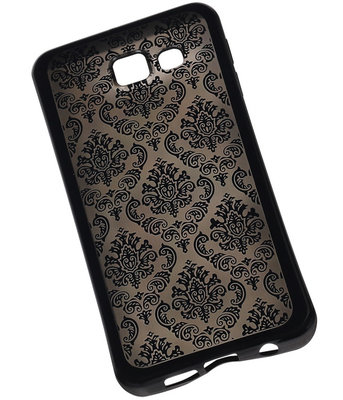 Zwart Brocant TPU back case cover hoesje voor Samsung Galaxy A3 (2016)