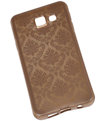 Goud Brocant TPU back case cover hoesje voor Samsung Galaxy A3 (2016)