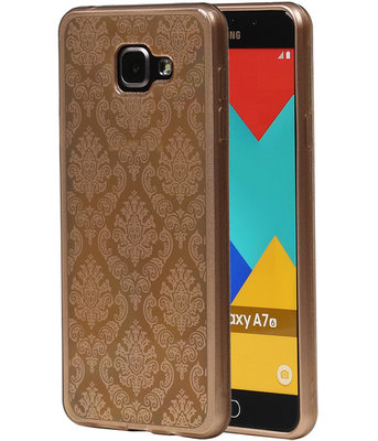 Goud Brocant TPU back case cover hoesje voor Samsung Galaxy A7 (2016)