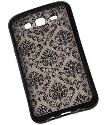 Zwart Brocant TPU back case cover voor Hoesje voor Samsung Galaxy J5 (2016)