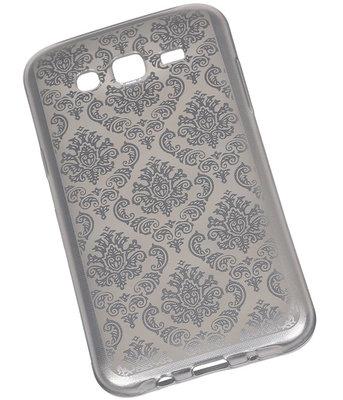Zilver Brocant TPU back case cover voor Hoesje voor Samsung Galaxy J5 (2016)