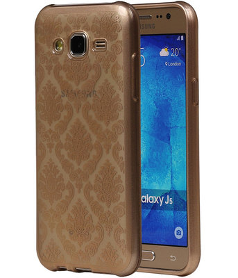 Goud Brocant TPU back case cover hoesje voor Samsung Galaxy J5 2015