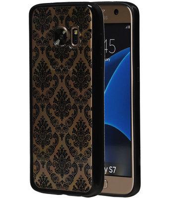 Zwart Brocant TPU back case cover hoesje voor Samsung Galaxy S7