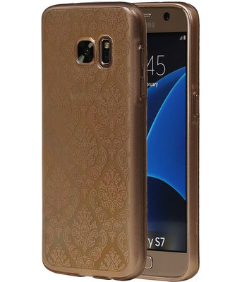 Goud Brocant TPU back case cover hoesje voor Samsung Galaxy S7