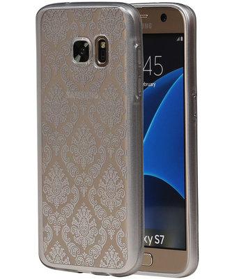 Zilver Brocant TPU back case cover hoesje voor Samsung Galaxy S7