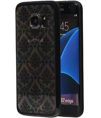 Zwart Brocant TPU back case cover voor Hoesje voor Samsung Galaxy S7 Edge