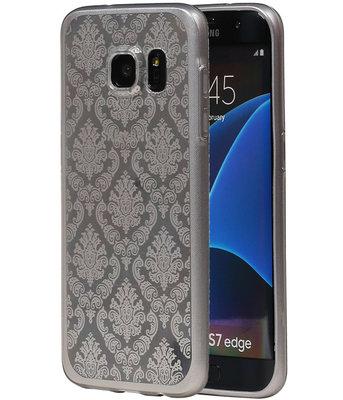 Zilver Brocant TPU back case cover voor Hoesje voor Samsung Galaxy S7 Edge