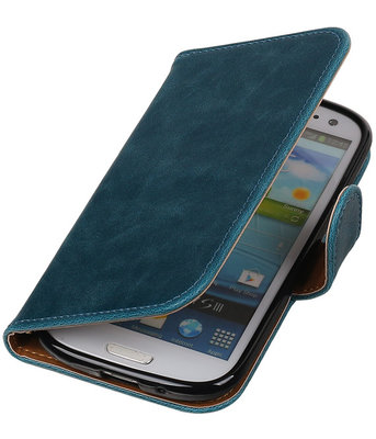 Rood Pull-Up PU booktype wallet cover hoesje voor Samsung Galaxy S3