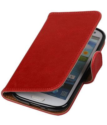 Rood Pull-Up PU booktype wallet cover voor Hoesje voor Samsung Galaxy S3