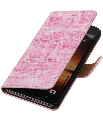 Roze Mini Slang booktype cover hoesje voor HTC One X9