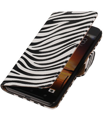 Zebra booktype cover hoesje voor HTC One X9