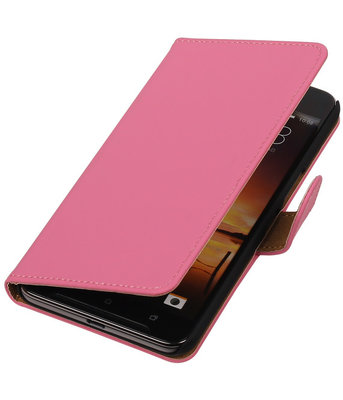 Roze Effen booktype cover hoesje voor HTC One X9