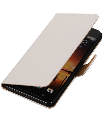 Wit Effen booktype cover hoesje voor HTC One X9