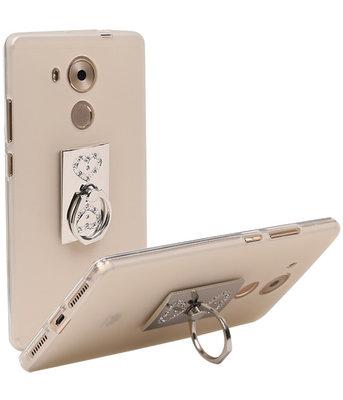 Zilveren Harten Diamant Design UniverseleRing HouderAccessoire