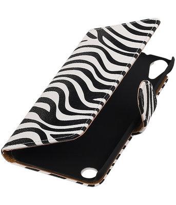 Zebra booktype cover voor Hoesje voor HTC Desire 530