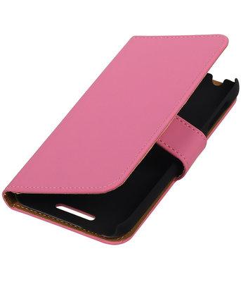 Roze Effen Hoesje voor HTC Desire 510 s Book/Wallet Case/Cover