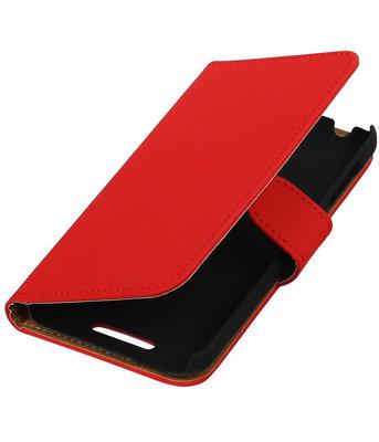 Rood Effen Hoesje voor HTC Desire 510 s Book/Wallet Case/Cover