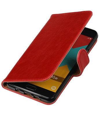Rood Pull-Up PU booktype wallet cover voor Hoesje voor Samsung Galaxy A5 2016