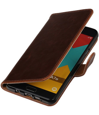 Mocca Pull-Up PU booktype wallet cover hoesje voor Samsung Galaxy A7 2016