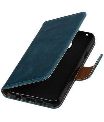 Blauw Pull-Up PU booktype wallet cover hoesje voor Samsung Galaxy A3 2016