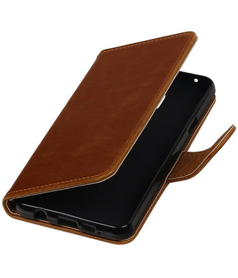 Bruin Pull-Up PU booktype wallet cover hoesje voor Samsung Galaxy A3 2016