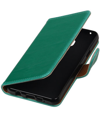 Groen Pull-Up PU booktype wallet cover hoesje voor Samsung Galaxy A3 2016