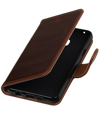 Mocca Pull-Up PU booktype wallet cover voor Hoesje voor Samsung Galaxy A3 2016