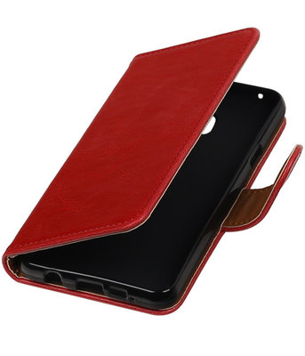 Rood Pull-Up PU booktype wallet cover voor Hoesje voor Samsung Galaxy A3 2016