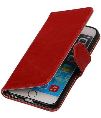 Rood Pull-Up PU booktype wallet cover voor Hoesje voor Apple iPhone 6 Plus / 6s Plus