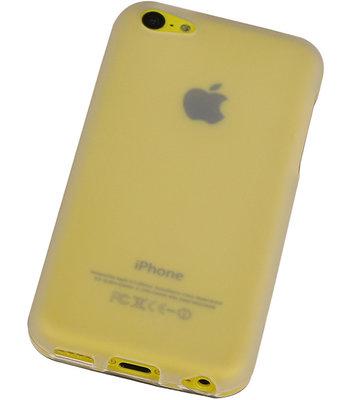 Apple iPhone SE TPU Hoesje Transparant Wit