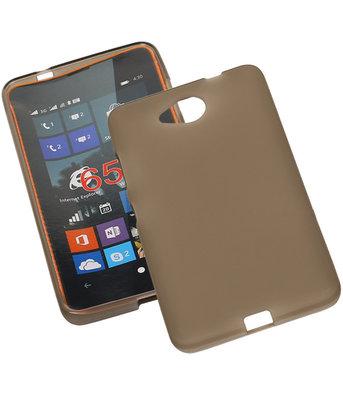 Hoesje voor Microsoft Lumia 650 TPU Transparant Grijs
