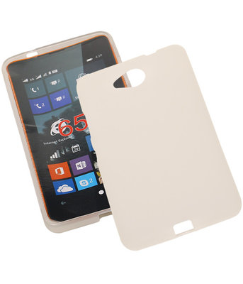 Hoesje voor Microsoft Lumia 650 TPU Transparant Wit