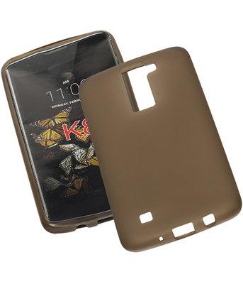 Hoesje voor LG K8 TPU Back Cover Transparant Grijs