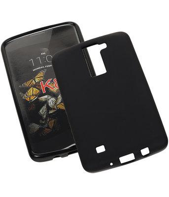 Hoesje voor LG K8 2016 TPU Back Cover Zwart