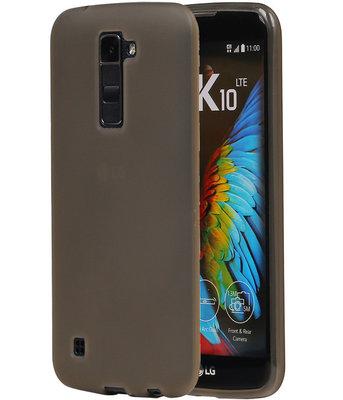 Hoesje voor LG K10 TPU Back Cover Transparant Grijs