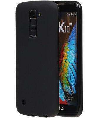 Hoesje voor LG K10 TPU Back Cover Zwart