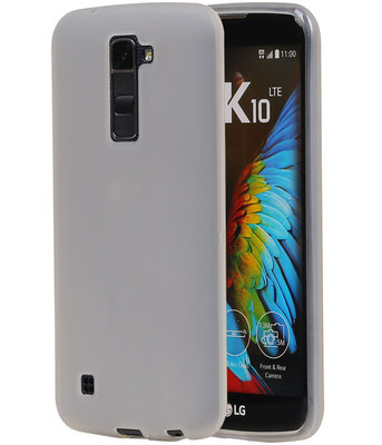 LG K10 TPU Back Cover Hoesje Transparant Wit