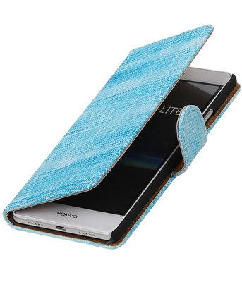 Turquoise Mini Slang booktype cover voor Hoesje voor Huawei P9 Lite