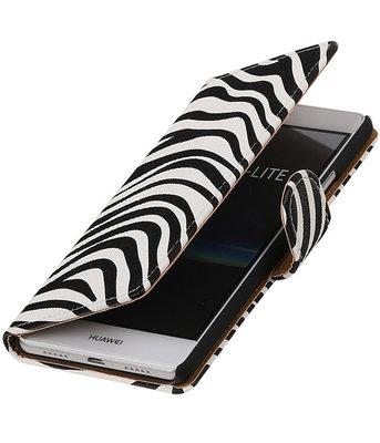 Zebra booktype cover voor Hoesje voor Huawei P9 Lite