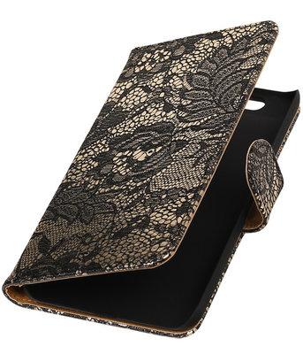 Hoesje voor Huawei Nexus 6P - Lace Zwart Booktype Wallet