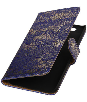 Hoesje voor Huawei Nexus 6P - Lace Blauw Booktype Wallet