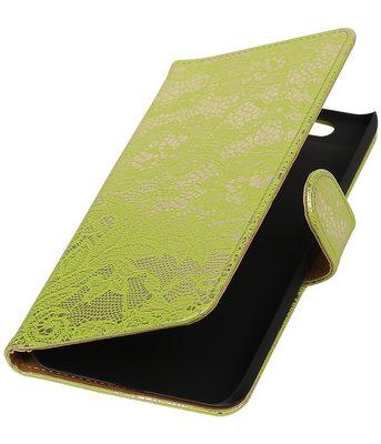Hoesje voor Huawei Nexus 6P - Lace Groen Booktype Wallet