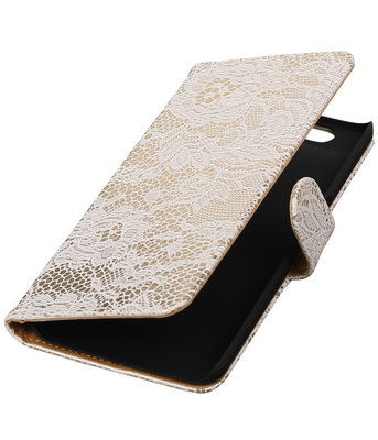 Hoesje voor Huawei Nexus 6P - Lace Wit Booktype Wallet