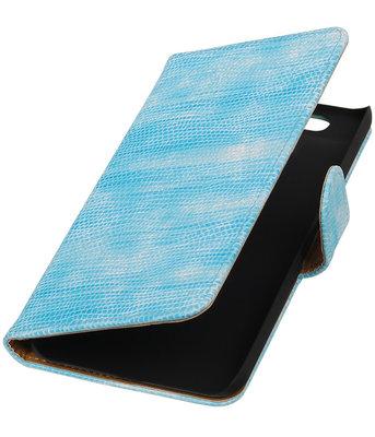 Hoesje voor Huawei Nexus 6P - Mini Slang Turquoise Booktype Wallet