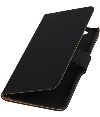 Hoesje voor Huawei Nexus 6P - Effen Zwart Booktype Wallet